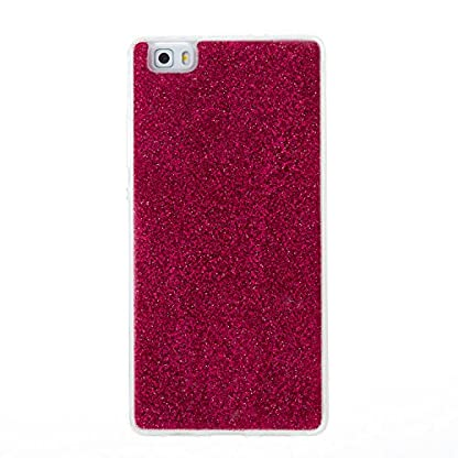 COZY HUT Huawei P8 Lite Case, Huawei P8 Lite Back Cover, Luxury Bling Shiny Sparkle Glitter Soft TPU Silicone Case Cover For Huawei P8 Lite - rose Red 2