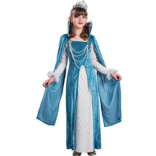 uxe Renaissance Königin Kostüm Kleid(Blau, Medium) (Renaissance Mädchen Blau Kostüme)