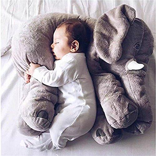 Cuscino Elefante Simpatici animali Elephant Cuscino Elefante di sonno Giocattoli di peluche Peluche Cuscini Il bambino del bambino Regali del Bambino (Grey 1)