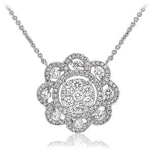 1.10 ct G/VS2 Certified Diamond Pendant - 18CT WHITE GOLD