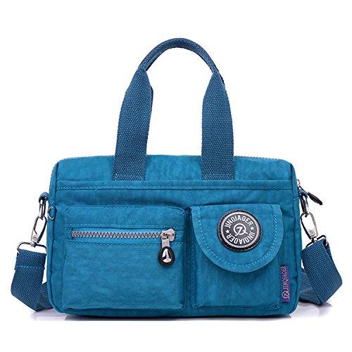 MeCooler Messenger Bag Damen Umhängetasche Mädchen Taschen Reisetasche Wasserfeste Kuriertasche Designer Sporttasche für Schultertasche Handtasche Strandtasche Blau