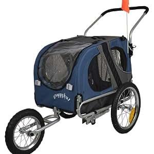 Doggyhut Medium Pet Dog Bicycle Trailer & Jogging Stroller in Blue 10201-02