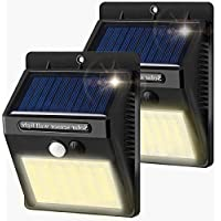 Solar Lights Outdoor, AOMEES Solar Motion Sensor Lights Waterproof Super Bright Wireless Solar Security Lights for Garden Fence Yard Patio Pathway Driveway (2 Pack)