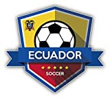 Ecuador Flag National Soccer Team Badge Auto-Dekor-Vinylaufkleber 12 X 12 cm