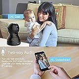 Dome Kamera - Atuten WiFi IP Kamera 1080P WLAN Überwachungskamera,Smart Home Kamera mit Nachtsicht,Auto-Rotation,2 Wege Audio,Bewegungsalarm,64G TF Card, Baby Monitor, Kompatible mit Alexa Echo Show - 4