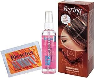 Berina Hair Color, Serum and Bleacher, Medium Golden Brown