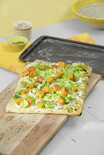 comprare on line Kaiser 2300647814 Teglia Forno per Pizze e Crostate, 42 x 37 x 2.5 cm prezzo