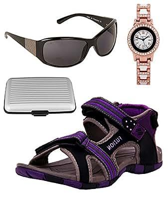 c44dda74663 ... Fuzion Women s Black   Purple Women Sandal