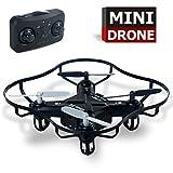 RC Quadcopter interior al aire libre Drones 4 canales de 2,4 GHz de 6 ejes Gyro Mini Drone RTF para los niños niñas principiante (negro)