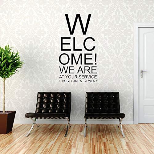 Wall Stickers Wall Quotes Vinyl Sticker Willkommen! Wir Sind Für Sie Da Wandtattoo Home Art Deco Büro Ladeneinrichtung Wasserdicht 96X53Cm