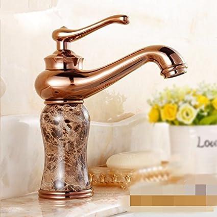 RY-Rubinetti di oro tutti conca di rame a caldo e a freddo bagno ...