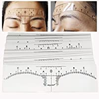 Airgoesin New Version 100pcs Microblading Adhesive Eyebrow Ruler Guide Sticker Tape Tattoo Template Measure Beauty Tool