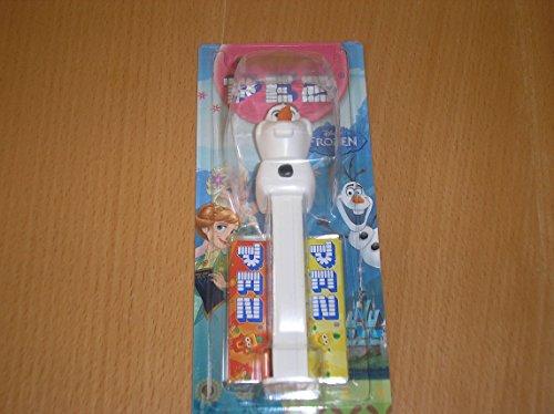 Disney's Frozen Olaf Pez Dispenser con dos recambios (vendidos por separado, suministrado Un personaje al azar)