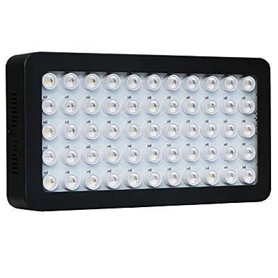 DcolorLed 55x3w Dimmable 165w Spectre Complet Aquarium LED Panneau Lumineux pour Recif, Corail & Poisson
