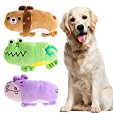UEETEK Pack de 3 Squeaky Juguetes de Perros para Perros Cachorro, Oso...