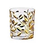"Whiskeybecher, Whiskeyglas, Whisky Glas ""EDELRAUSCH"" gold, 330ml, Kollektion: EDELRAUSCH im monumentalem Style (GERMAN CRYSTAL powered by CRISTALICA)"