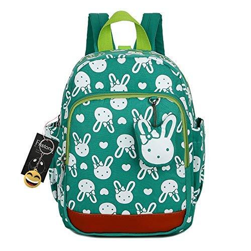 FRISTONE Niedlich Tier Hase Baby Rucksack Kinderrucksack Kleinkind Mädchen Kindergartenrucksack Backpack mit Sicherheit Geschirre Zügel