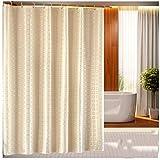 YAOHAOHAO Duschvorhang, Wasserdichte Dicker Schimmel verhindern Schattierung Material aus Polyester Duschvorhänge Verdickt, Warm (Größe: 150 * 180 cm).