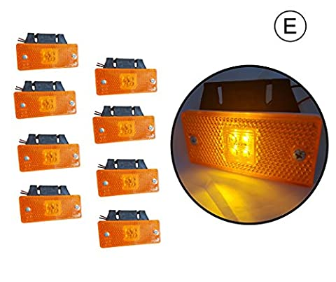 8x4SMD LED24V Position lamp Marker Light HGV Orange with Bracket