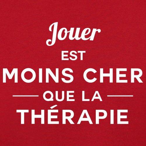 Jouer est moins cher que la thérapie - Femme T-Shirt - 14 couleur Rouge