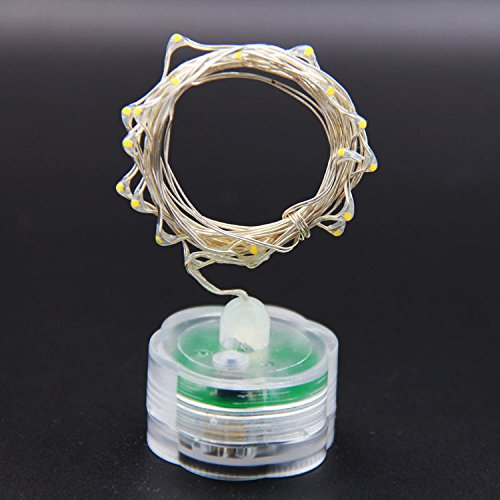 Feicuan Cadena de Luces Twinkle Batería Copper Wire 2M/20 LED DIY Festival decoración Fiesta de Navidad (Pack of 6)