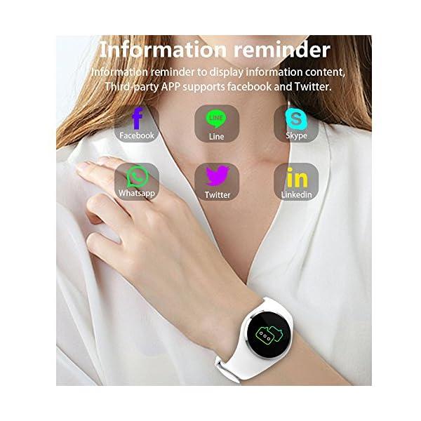 Fitness Reloj de pulsera con pulsómetro resistente al agua IP67Fitness Tracker Actividad tracker Pulso Relojes Bluetooth Smart reloj de pulsera podómetro negro 5