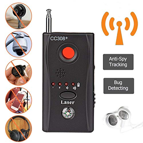 Hangang Rf-Detektor-Wanzen-Detektor Anti-Spionage-Signal-Detektor Allmächtige versteckte Kamera-Laser-Linse Gsm-Gerät-Finder (cc308-2) -