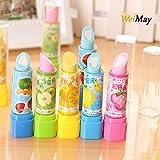 WeiMay Radiergummi Kreatives Lippenstift Form radiergummis für Bleistifte Kinder Kreatives Spielzeug 4 Stück