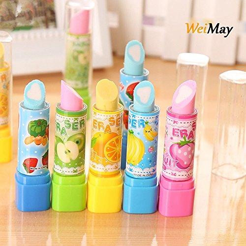WeiMay Radiergummi Kreatives Lippenstift Form radiergummis für Bleistifte Kinder Kreatives...