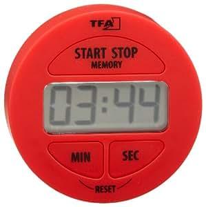 TFA 38.2022.05 elektronischer Timer und Stoppuhr rot