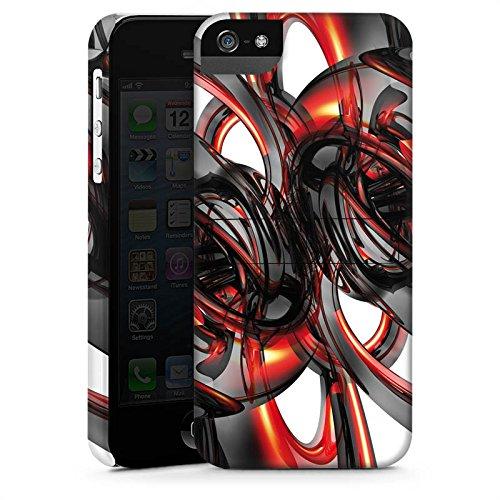 Apple iPhone 4 Housse Étui Silicone Coque Protection Strudel Vernis Brillance CasStandup blanc