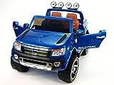 Kinderauto Kinderelektroauto Kinderelektrofahrzeug Kinder elektroauto 12V Orginal Ford Ranger Luxus blau RC