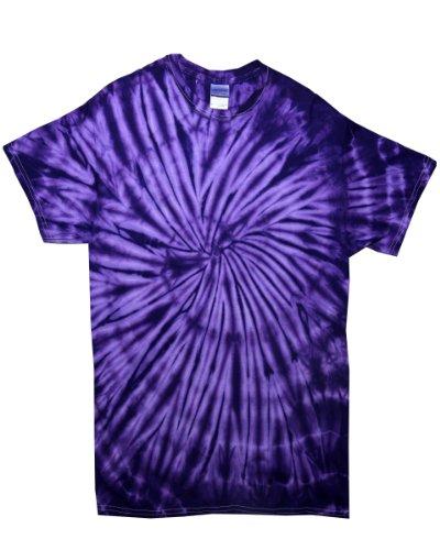 Motif Tie-Dye tduk S/manches en spirale Tie Dye T [5000sp] Spiral Purple