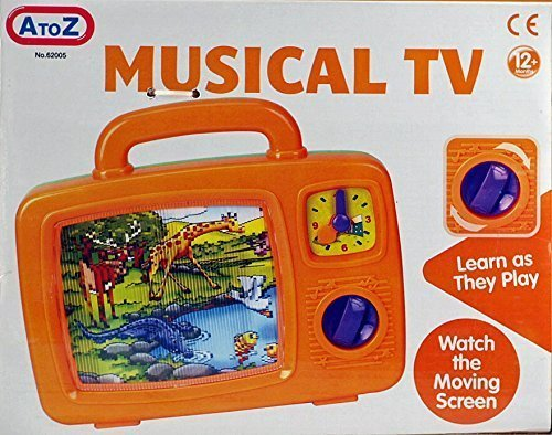 Baby Musical TV - Classic Wind Up Magical Moving Toddlers Television Toy by A TO Z