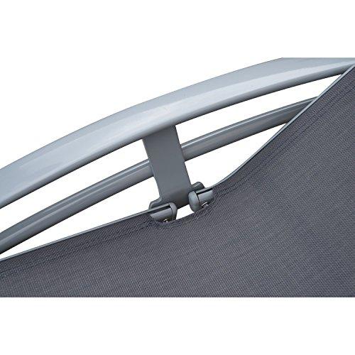 Outsunny Sonnenliege Gartenliege Gartenstuhl Relaxsessel Liegestuhl Aluminium, grau - 9