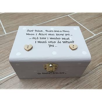 Shabby Personalised Chic Friend Best Special Feiendship Trinket LARGE Box Set