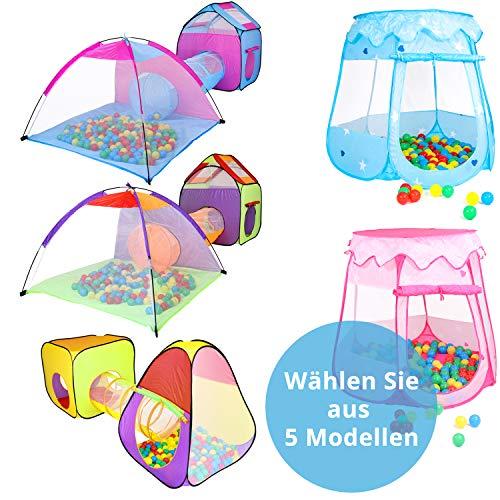 KIDIMAX Kinderspielzelt Pinguin - inkl. 200 Bälle, Tunnel & Tasche, Spielhaus Bällebad Spielhaus Babyzelt Spielzelt, ideal für drinnen und draußen, mädchen & Jungen