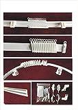 Schiene Vorhang-flexibel PVC–Finish Weiß–Komplettset–Länge 300cm