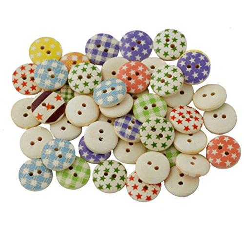 Newsbenessere.com 51%2BMTep3PxL 100pcs pulsante/bottoni in legno per cucito e fai da te artigianato Ver. Forma