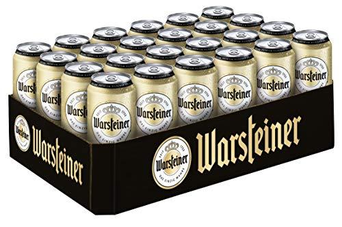 Warsteiner Premium Pilsener Dosenbier, Internationales Bier nach deutschem Reinheitsgebot, EINWEG (24 x 0,5 Liter) -