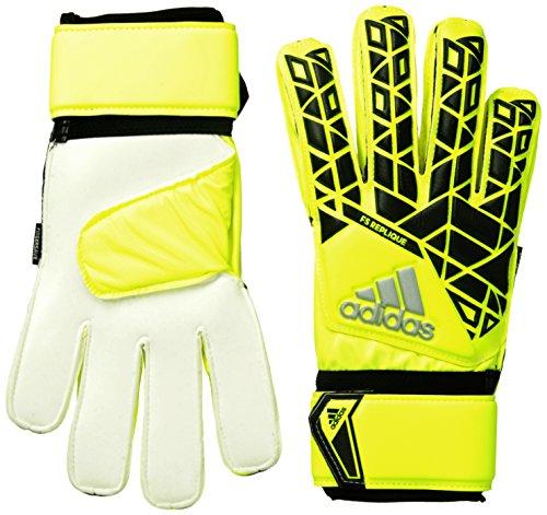 Adidas Torwart Pro Predator Handschuhe (adidas Ace Fingersave Torwarthandschuhe, Solar Yellow/Black/Onix, 10.5)