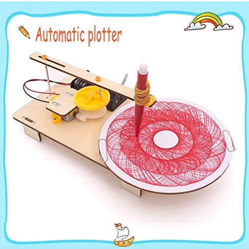 Automatischer Plotter DIY Holz Spielzeug Kreative Montage Modell Kit Wissenschaftliches Experiment Lern Spielzeug Für Kinder