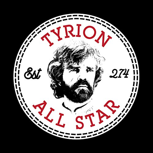Games Of Thrones Tyrion Lannister All Star Converse Logo Women's T-Shirt Black