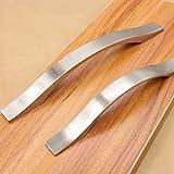 Schönes Leben - Juego de 4 tiradores de arco para muebles y puertas (distancia entre orificios de 160 mm)