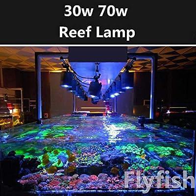 YJDSDD Reef Aquarium Coral d'eau de mer LED Lumière 30W 70W Eau de Mer Lever du Soleil Coucher De Soleil Plein Spectre LED Mer De Corail Lumière Tube Pince Lampe
