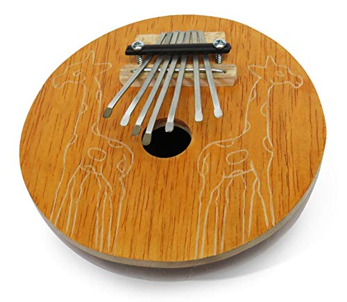Daumen-Klavier/Karimba/Kalimba/Mbira Percussion Musikinstrument aus handgearbeiteter Kokosnuss mit Giraffe