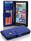 Cadorabo Hülle für Nokia Lumia 929/930 Hülle in Neptun blau Handyhülle mit 3 Kartenfächern Case Cover Schutzhülle Etui Tasche Book Klapp Style Neptun-Blau