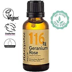 Naissance Huile Essentielle de Géranium Rosat (n° 116) - 30ml - pure, naturelle et distillée à la vapeur - végan et sans OGM