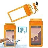 Acm Waterproof Bag Case for Ivoomi Me2 Mobile (Rain,Dust,Snow & Water Resistant) Orange