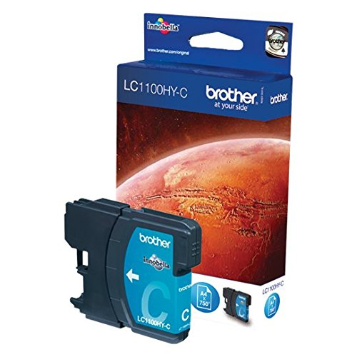 Brother LC-1100HYC Cartouche d'encre d'origine 1 x bleue 750 pages